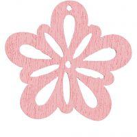 Blomst, diam. 27 mm, tykkelse 1,7 mm, rosa, 20 stk./ 1 pk.