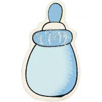 Sutteflaske, str. 22x37 mm, tykkelse 1,7 mm, lyseblå, 10 stk./ 1 pk.