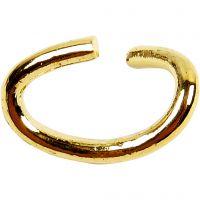 Oval-ring, tykkelse 0,7 mm, forgyldt, 50 stk./ 1 pk.