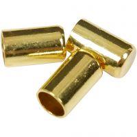 Enderør, diam. 2,5 mm, forgyldt, 50 stk./ 1 pk.