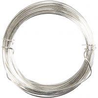 Sølvtråd, tykkelse 0,6 mm, forsølvet, 10 m/ 1 rl.