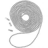 Kuglekæde, diam. 1,5 mm, forsølvet, 1 m
