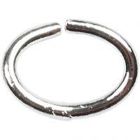 Oval-ring, tykkelse 1 mm, forsølvet, 40 stk./ 1 pk.