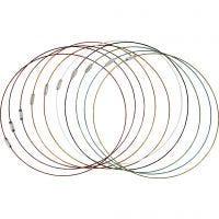 Wire med lås, L: 45 cm, tykkelse 1 mm, 20 stk./ 1 pk.