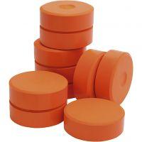 Temperablokke, H: 19 mm, diam. 57 mm, orange, 10 stk./ 1 pk.