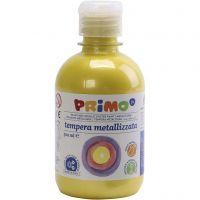Skole temperamaling metallic, gul, 300 ml/ 1 pk.