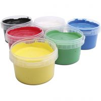 PRIMO fingermaling, ass. farver, 6x250 ml/ 1 pk.