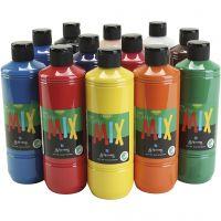 Greenspot Ready mix, mat, ass. farver, 12x500 ml/ 1 pk.
