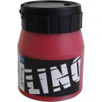 Linoleumssværte, rød, 250 ml/ 1 ds.