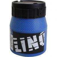 Linoleumssværte, blå, 250 ml/ 1 ds.