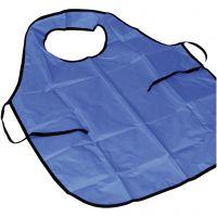 Forklæde med krave, L: 100 cm, str. M-XL cm, blå, 1 stk./ 1 pk.
