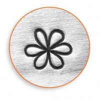 Prægestempel, Blomst, L: 65 mm, str. 6 mm, 1 stk.