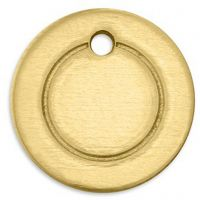 Tag, Ring , diam. 13 mm, hulstr. 1,85 mm, tykkelse 1 mm, messing, 11 stk./ 1 pk.