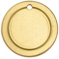 Tag, Ring, diam. 20 mm, hulstr. 1,85 mm, tykkelse 1 mm, messing, 6 stk./ 1 pk.