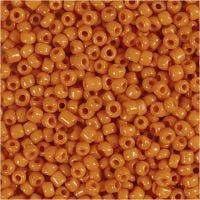 Rocaiperler, diam. 3 mm, str. 8/0 , hulstr. 0,6-1,0 mm, orange, 500 g/ 1 pk.