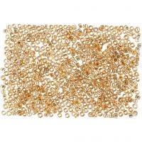 Rocaiperler, diam. 1,7 mm, str. 15/0 , hulstr. 0,5-0,8 mm, fersken, 500 g/ 1 ps.