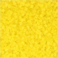 Rocaiperler, 2-cut, diam. 1,7 mm, str. 15/0 , hulstr. 0,5 mm, transparent gul, 500 g/ 1 ps.