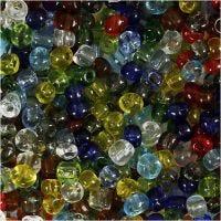Rocaiperler, diam. 4 mm, str. 6/0 , hulstr. 0,9-1,2 mm, blank transparent, 130 g/ 1 pk.