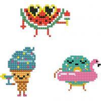 Diamond Dotz - stickers, emojis, str. 18x10 cm, 1 pk.