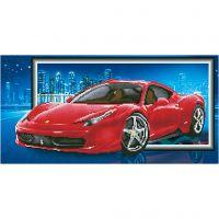 Diamond Dotz - billede på stof, Ferrari, str. 40x50 cm, 1 pk.
