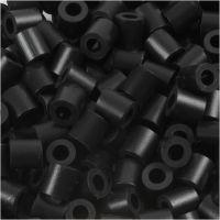 Rørperler, str. 5x5 mm, hulstr. 2,5 mm, medium, sort (32220), 1100 stk./ 1 pk.