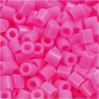 Rørperler, str. 5x5 mm, hulstr. 2,5 mm, medium, rosa (32222), 6000 stk./ 1 pk.