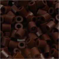 Rørperler, str. 5x5 mm, hulstr. 2,5 mm, medium, brun (32229), 6000 stk./ 1 pk.