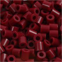 Rørperler, str. 5x5 mm, hulstr. 2,5 mm, medium, vinrød (32239), 6000 stk./ 1 pk.