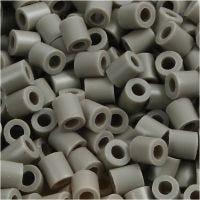 Rørperler, str. 5x5 mm, hulstr. 2,5 mm, medium, askegrå (32226), 6000 stk./ 1 pk.