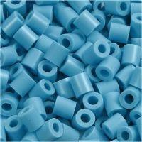 Rørperler, str. 5x5 mm, hulstr. 2,5 mm, medium, turkis (32256), 1100 stk./ 1 pk.
