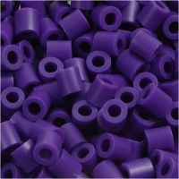 Rørperler, str. 5x5 mm, hulstr. 2,5 mm, medium, mørk lilla (32234), 6000 stk./ 1 pk.