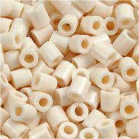Rørperler, str. 5x5 mm, hulstr. 2,5 mm, medium, lys beige (32251), 6000 stk./ 1 pk.