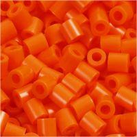 Rørperler, str. 5x5 mm, hulstr. 2,5 mm, medium, klar orange (32233), 6000 stk./ 1 pk.