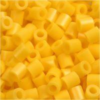 Rørperler, str. 5x5 mm, hulstr. 2,5 mm, medium, gul (32227), 6000 stk./ 1 pk.