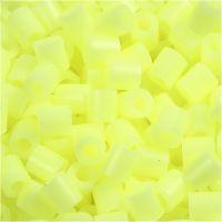 Rørperler, str. 5x5 mm, hulstr. 2,5 mm, medium, gul pastel (32244), 6000 stk./ 1 pk.
