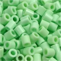 Rørperler, str. 5x5 mm, hulstr. 2,5 mm, medium, grøn pastel (32252), 1100 stk./ 1 pk.