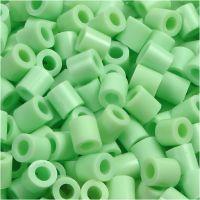 Rørperler, str. 5x5 mm, hulstr. 2,5 mm, medium, grøn pastel (32252), 6000 stk./ 1 pk.