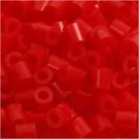 Rørperler, str. 5x5 mm, hulstr. 2,5 mm, medium, lys rød (32225), 6000 stk./ 1 pk.