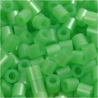 Rørperler, str. 5x5 mm, hulstr. 2,5 mm, medium, grøn perlemor (32240), 1100 stk./ 1 pk.