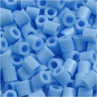 Rørperler, str. 5x5 mm, hulstr. 2,5 mm, medium, blå pastel (32224), 6000 stk./ 1 pk.