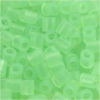 Rørperler, str. 5x5 mm, hulstr. 2,5 mm, medium, grøn neon (32237), 6000 stk./ 1 pk.