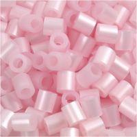 Rørperler, str. 5x5 mm, hulstr. 2,5 mm, medium, rosa perlemor (32259), 1100 stk./ 1 pk.