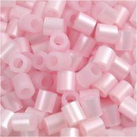 Rørperler, str. 5x5 mm, hulstr. 2,5 mm, medium, rosa perlemor (32259), 6000 stk./ 1 pk.