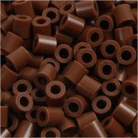 Rørperler, str. 5x5 mm, hulstr. 2,5 mm, medium, chokolade (32249), 6000 stk./ 1 pk.