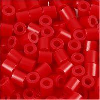 Rørperler, str. 5x5 mm, hulstr. 2,5 mm, medium, rød (32231), 6000 stk./ 1 pk.