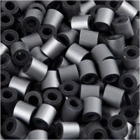 Rørperler, str. 5x5 mm, hulstr. 2,5 mm, medium, sølv (32262), 1100 stk./ 1 pk.