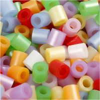 Rørperler, str. 5x5 mm, hulstr. 2,5 mm, medium, perlemorsfarver, 6000 ass./ 1 pk.