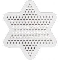 Perleplade, lille stjerne, diam. 10 cm, 10 stk./ 1 pk.