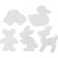 Perleplader, str. 16x19,5-19x24 cm, JUMBO, transparent, 5 stk./ 1 pk.