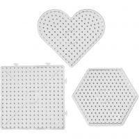 Perleplader, str. 15x15-17,5x17,5 cm, JUMBO, transparent, 6 stk./ 1 pk.